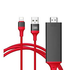 Cáp Lightning Kết Nối Trực Tiếp Điện Thoại Với Tivi Qua Cổng HDMI _Model:7575S