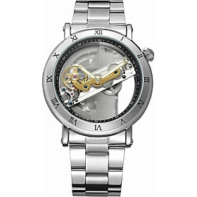 FORSINING Luxury Skeleton Automatic Mechanical Men Watch Self-Wind Stainless Steel/Genuine Leather Man Business