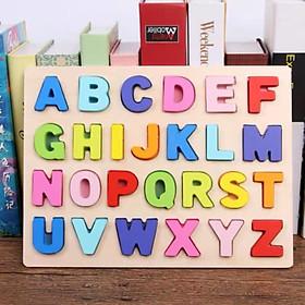 Bảng chữ cái tiếng Anh bằng gỗ - Đồ chơi thông minh kích thích sự phát triển - an toàn cho bé MK00172