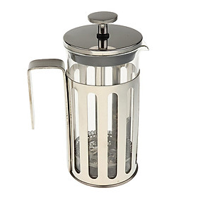 Coffee & Tea Maker, French Press Coffee Maker, Stainless Steel & Heat-Resistant Borosilicate Glass French Press