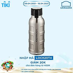 Bình Giữ Nhiệt Thép Không Gỉ Bumper Bottle Lock&Lock LHC4142SLV (650ml) - Bạc