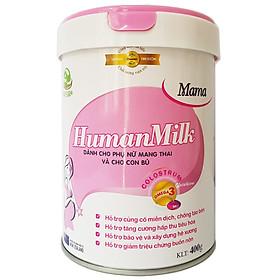 Sữa bột HumanMilk Mama 400g bổ sung dưỡng chất cần thiết cho phụ nữ mang thai và cho con bú