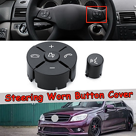 Right Black Steering Worn Button Cover For Mercedes-Benz W204 W212 C200 GLK260