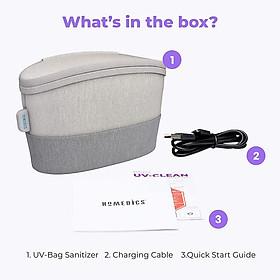 Túi khử khuẩn công nghệ tia UV HoMedics SAN-B100