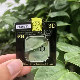 Cường Lực Camera 9H Dành Cho iPhone 12, 12 Mini, 12Pro, 12Pro Max -  Kèm Bộ Khăn Lau