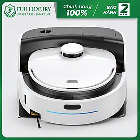 Robot Hút Bụi Lau Nhà Thông Minh Fuji Luxury T10 Max Tự Giặt Giẻ Lau Độc Quyền - Hàng Chính Hãng