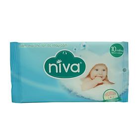 Combo 03 gói khăn ướt Niva 10 miếng tặng 01 gói khăn ướt Niva 10 miếng-3