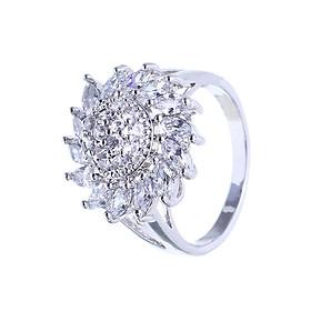 Nhẫn nữ mạ bạc Hoa Hướng Dương MK345