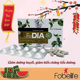 Hỗ trợ giảm đường huyết FoDia- Hộp 30 viên.