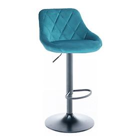 Ghế bar bọc vải nhung chân sắt tăng giảm CB2261