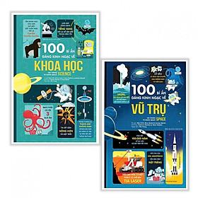 Combo Sách Thiếu Nhi Bổ Ích: 100 Bí Ẩn Đáng Kinh Ngạc Về Vũ Trụ (USBORNE - 100 Things To Know About Space) + 100 Bí Ẩn Đáng Kinh Ngạc Về Khoa Học (USBORNE - 100 Things To Know About Science) + Tặng kèm Bookmark