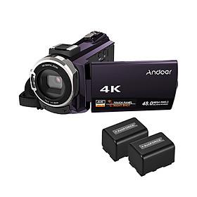 Máy Quay Video Wifi Kỹ Thuật Số Andoer Kèm 2 Pin Novatek 96660 (4K 1080P 48Mp)