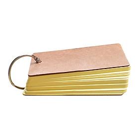Bộ Thẻ Flashcard 80 Tờ Ghi Nhớ Học Từ Vựng Ngoại Ngữ - Màu Vàng