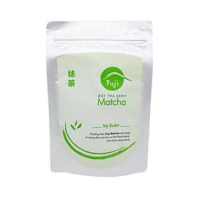 Bột Trà Xanh Fuji Matcha Xuân 100g - Nguyên Chất 100% Tự Nhiên. Dùng pha chế đồ uống, đắp mặt, dưỡng da, làm bánh kẹo