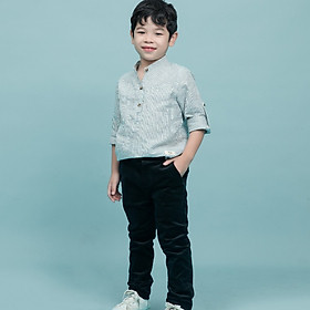 Quần bé trai   - BQ001_BL - Nhung đen-1