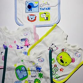 Hình đại diện sản phẩm Combo 2 Yếm Xây Bo Chui Đầu Tiện Lợi Jou Cotton 100% Cao Cấp ( Đồ Dùng Ăn Dặm Cho Bé Sơ Sinh 3-24 Tháng )
