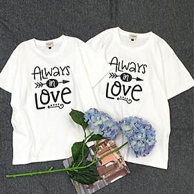 Áo thun đôi cao cấp chất liệu cotton 100% dành cho cặp đôi, thích hợp đi chơi, hẹn hò, chụp hình cưới C2.23