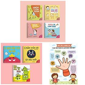 Combo Ehon Nhật Bản: Những Câu Chuyện Kỳ Lạ Của Hasu + NHỮNG ĐIỀU KỲ DIỆU CỦA HÌNH KHỐI + Poster An Toàn Cho Con Yêu (Sách Phát triển trí tuệ / Tư duy logic / Kỹ năng làm việc dành cho bé 4-6 tuổi )