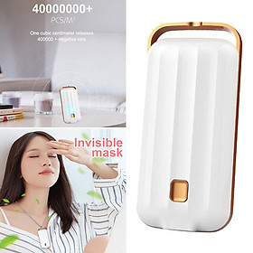 Wearable Air Purifier Personal Mini Air Necklace Negative Ion Air Freshner for Kids Adults