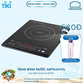 Bếp Điện Từ Ultra-Slim Lock&Lock EJI131BLK (2000W) - Đen - Hàng Chính Hãng