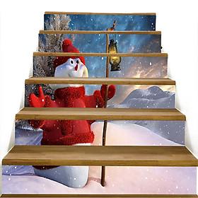 Giấy Dán Cầu Thang PVC Hình Cây Giáng Sinh (6 Cái/Bộ)