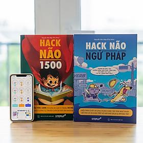 Combo 2 sách Hack Não 1500 + Hack Não Ngữ Pháp - Tặng App học phát âm và ngữ pháp, làm chủ từ vựng và nắm chắc ngữ pháp tiếng Anh chỉ sau 2 tháng