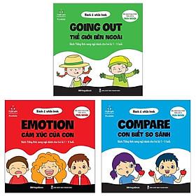 Combo Black & White Book: Compare - Con Biết So Sánh + Emotion - Cảm Xúc Của Con + Going Out - Thế Giới Bên Ngoài (Bộ 3 Cuốn)