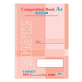 Sổ Lò Xo Đơn Composition Book Klong MS 396 (500 Trang)