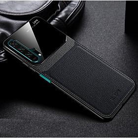 Ốp lưng da kính cao cấp hiệu Delicate dành cho Huawei Nova 5T - Hàng nhập khẩu