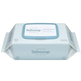 Khăn ướt trẻ em BEBESUP Sensitive Baby 80 (gói 80 tờ)