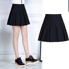 Chân váy ngắn xếp ly kèm quần lưng bản to cách điệu