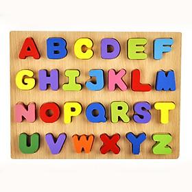 Bảng chữ nổi - đồ chơi gỗ TotdepreHG2024