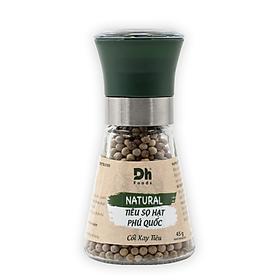 Tiêu sọ hạt Phú Quốc 45gr Dh Foods - kèm Lọ xay tiêu thủy tinh