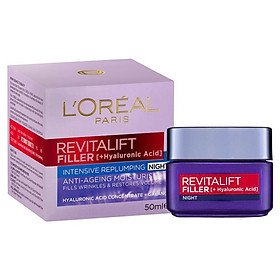 L'Oreal Paris Revitalift Filler [HA] Night Moisturiser 50ml