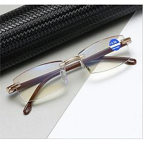 Kính lão thị trung niên Nam nữ sẵn độ +1.00 đến +4.00 mắt cực sáng và trong chống uv kvn88cp3