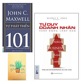 Combo Tư Duy Doanh Nhân, Hành Động Lãnh Đạo và Tự Phát Triển 101 – Những Điều Nhà Lãnh Đạo Cần Biết ( Tặng Kèm Sổ Tay Xương Rồng)