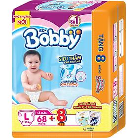 Tã dán Bobby siêu thấm - khô thoáng L68 [Tặng 8 Miếng Phiên Bản Hè Giới Hạn]-2