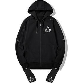 Áo Khoác Assassins Creed vải nỉ co giãn 4 chiều có tặng kèm Găng Tay