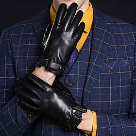 Men Winter Warm Driving Gloves Outdoor Plush Touch Screen Gloves