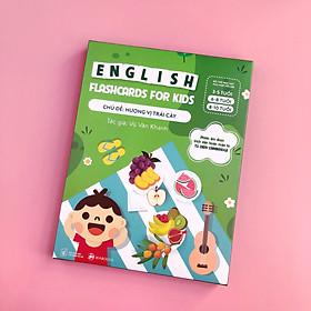 Bộ 30 Thẻ Học (Flashcards) Thông Minh Song Ngữ Tiếng Anh Phiên Âm chuẩn CAMBRIDGE - Chủ đề : Hương Vị Trái Cây ( cho bé 3 - 10 tuổi), Chất liệu giấy Ivory cao cấp
