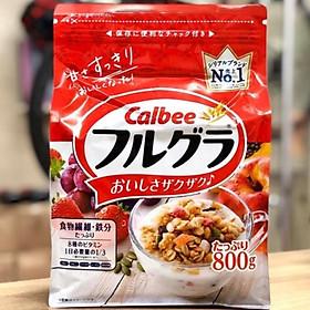 Ngũ Cốc Sấy Khô Calbee nội địa Nhật Bản 800g-Tặng túi zip 3 kẹo mật ong Senjaku