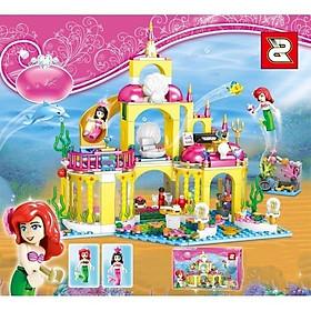 Bộ đô chơi xếp hình, lắp ráp Cung điện dưới đại dương của người cá Ariel và những người bạn - Ghép hình Thuỷ cung Ariel