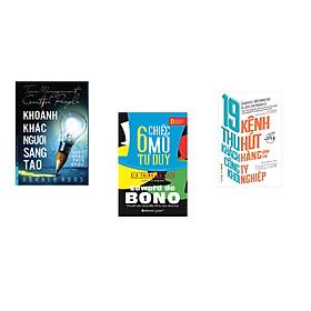 Combo 3 cuốn sách: Khoảnh Khắc Người Sáng Tạo + 19 kênh thu hút khách hàng dành cho công ty khởi nghiệp + 6 Chiếc mũ tư duy