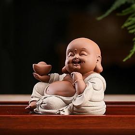 Tượng Phật Di Lạc Cầm Thỏi Vàng (Tam Thế)