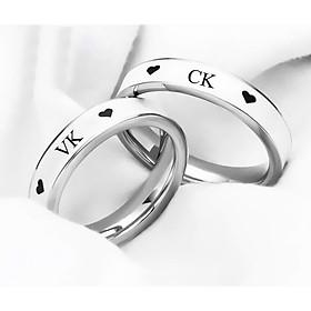 Nhẫn đôi  c.k vk bản trơn ý nghĩa – 1 chiếc