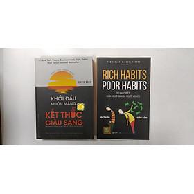 combo 2 cuốn sách: khởi đầu muộn màng kết thúc giàu sang + Rich Habits- Poor Habits sự khác biệt giữ người giàu và người nghèo