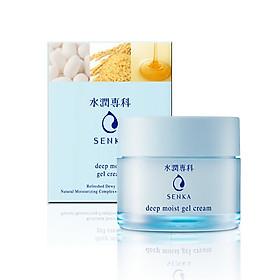 Kem dưỡng cấp ẩm chuyên sâu dạng gel - Senka deep moist gel cream 50g 16373 tặng Mặt nạ dưỡng da The Faceshop Real Nature (1 miếng)