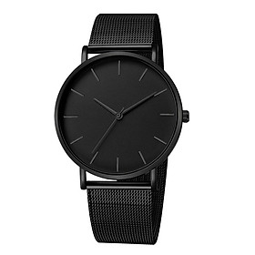 Male Simple Quartz Watch Luxury Mesh Band 12-Hour Analog Wristwatch Jewelry Gift