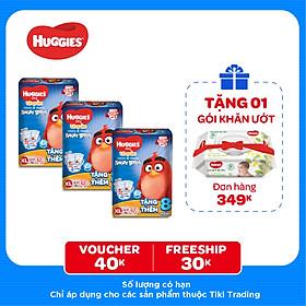 Combo 3 Gói Tã Quần Huggies Dry Gói Cực Đại Angry Birds phiên bản giới hạn XL62 (62 Miếng) - Tặng 8 miếng
