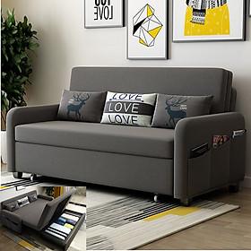 Sofa giường thông minh, A2671 dài 192cm x rộng 190cm x cao 38cm, giường khung thép có ngăn chứa đồ phía dưới, đệm bọt biển cao cấp có thể tháo rời, giường sofa đa năng tặng kèm 3 gối